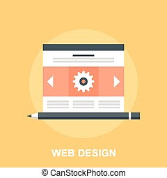 Web Design - Vector illustration of web design flat concept.