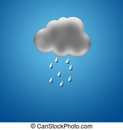 Cloudlet - The image of a cloud and rain on a blue...
