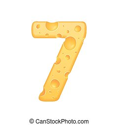 3d cheese number 7