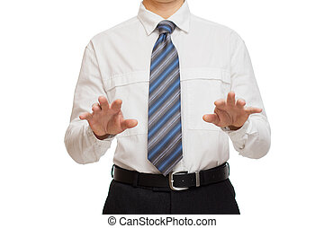 businessman with different gestures hands - businessman in...