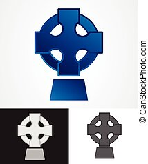 Celtic Cross - Ancient Celtic Cross Symbol. Vector...