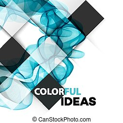 Vector Abstract color curved lines background Brochure...