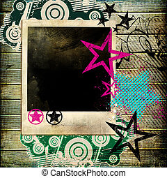 Abstract Background With Photo