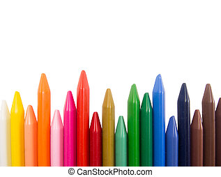 full color crayon irregular tips fence arrangement
