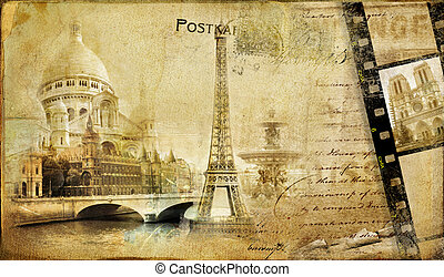 Memories About Paris - Vintage Photoalbum Series