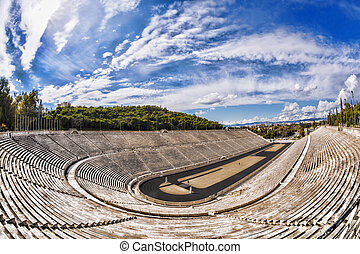 Panathenaic stadium in Athens, Greece hosted the first...