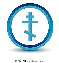 Blue Orthodoxy icon on a white background Vector...