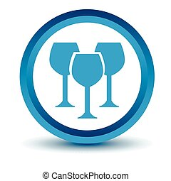 Blue Stemware icon on a white background Vector illustration...