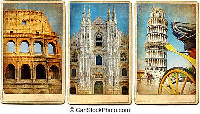 Italian Landmarks - Vintage Cards Series