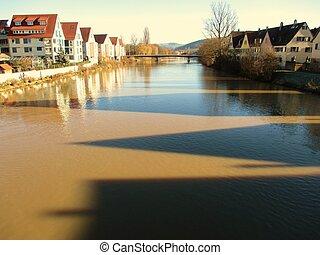 Neckar - Rottenburg am Neckar, Deutschland