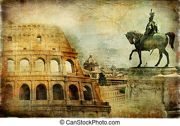 Great Rome,Italy - Artwork in Painting Style