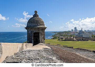 Castillo de San Cristobal - Observation tower at the...
