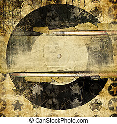 old vinil - retro music - vintage musical background with...
