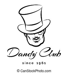 Dandy Logo - Dandy or Gentlemen Club logo or emblem. Only...