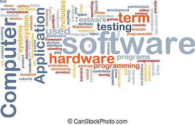 Software word cloud - Word cloud concept illustration of...