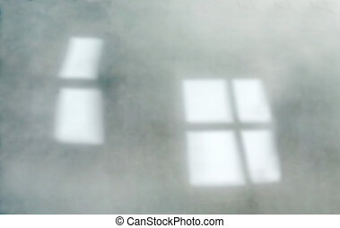 De-focused gren wall, window reflec - Background of...