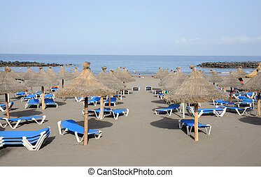 Beach in Las Americas Canary Island Tenerife, Spain