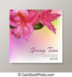 Take a flower on floral background.