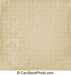 Faded and Embellished Abstract - Repeating pattern with...