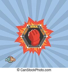 Mixed Martial Arts logo. MMA emblem