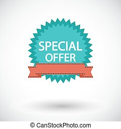 Special Offer. Single flat icon on white background. Vector...