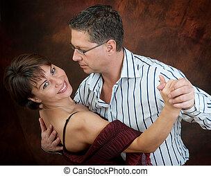 pareja, bailando