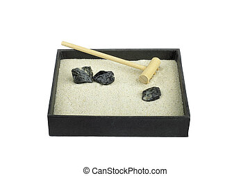 Zen garden with Rake - Miniature Zen garden with rake...