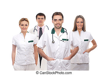 Team of young and smart medical workers