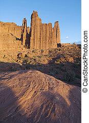 desert landscape - landscape of the towers in the desert...