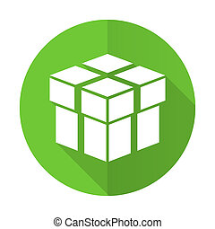 box green flat icon