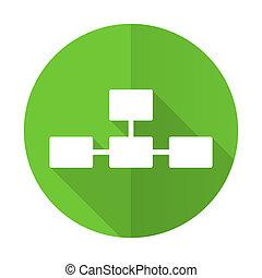 database green flat icon