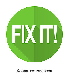 fix it green flat icon