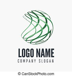 Abstract sphere logo, label, badge, emblem or logotype...