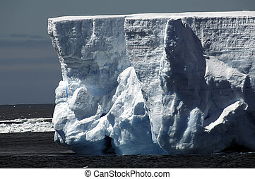 Iceberg walls in Antarctica