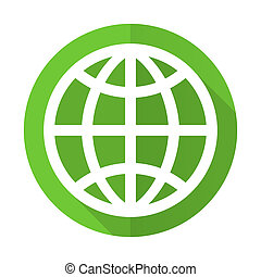 earth green flat icon
