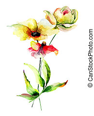 Floral watercolor illustration - Watercolor illustration...