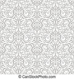 Two tone decorative pattern - Openwork seamless eastern gray...