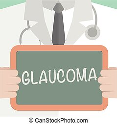 Medical Board Glaucoma - minimalistic illustration of a...