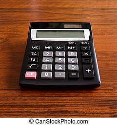 electronic calculator on work table
