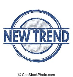 New trend stamp - New trend grunge rubber stamp on white...