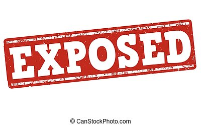 Exposed stamp - Exposed grunge rubber stamp on white...