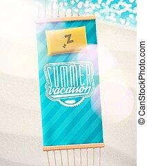 Summer Vacation - Hammock on beach, summer vacation, eps 10