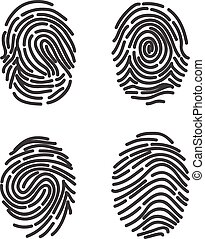 Finger prints set vector
