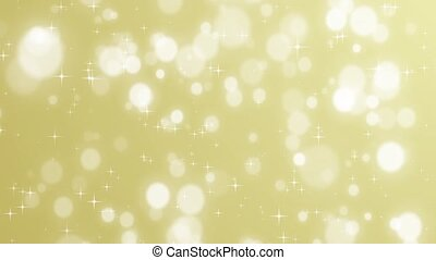 Christmas golden background with stars and bokeh falling...
