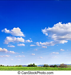 landscape of blue sky - Beautiful landscape of blue sky with...