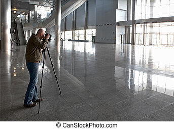 Premise photographing - The photographer photographs the big...