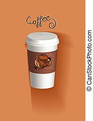 to go coffee cup in flat color