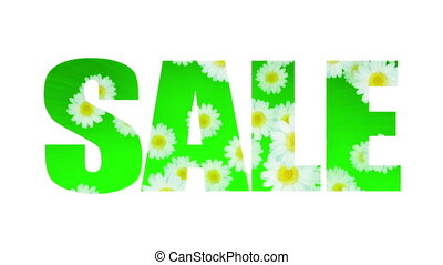 Sale Spring Summer Daisy (Loop) - Sale text with daisies....