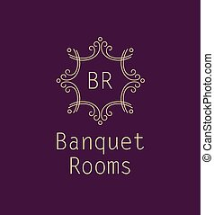 banquet rooms - Template logo for the banquet hall. Catering...