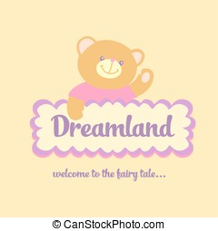 Dreamland - Template logo labels for sweets, children cafe...
